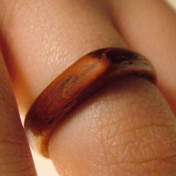 Ruby Red Padauk Wood Ring