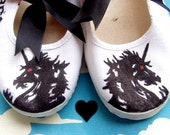 DIY NIGHT MARE EMO PUNK VINTAGE UNICORN HORSE CANVAS SHOES
