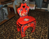 Stepstool Decorated with Rosemaling