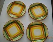 Vintage Vernonware Homespun Salad Plates