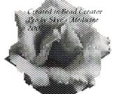 Greyscale rose freeform pendant pattern - PDF