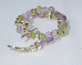 Peridot and Amethyst Bracelet