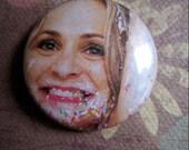 Amy Sedaris 1 inch button