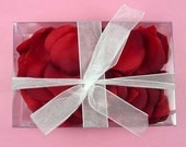 Silk Red Rose Petals  Hand Cut  100 Count