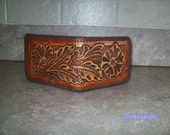 Hand Carved and Tooled Leather Billfold