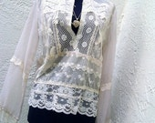 Delicate Lovely Lace Blouse, 0-8