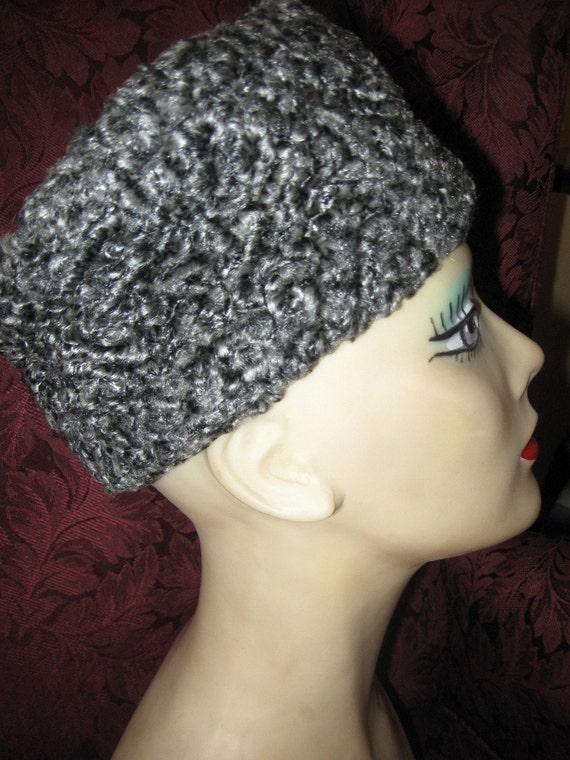 50s Persian Lamb Wool Hat