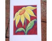 Yellow Diasy Greeting Cards (set of 3)