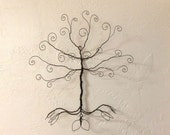 Wire Jewelry Wall Tree.. Hanging Earring Necklace display... Ready to ship