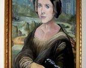 The Mona Leia - Star Wars - Original Signed Parody Art - Hand Painted Portrait \/ Painting -  Mona Lisa \/ Princess Leia - Leonardo Da Vinci