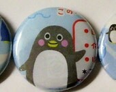 a penguin party. you pick pinbacks or magnets - 3