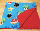 SALE, Super Mario Brothers Baby or Toddler Blanket SOFT