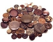 56 Vintage Brown Buttons