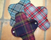 Reserved for Julie Patti Pads - Dark blue\/red\/green plaid
