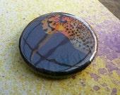1.25inch Badge\/Button - Cheetah Stencil