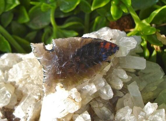Obsidian Bitterroot Side Notch Arrowhead
