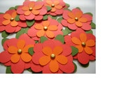 PIF - Set of 8  1 1\/2 Red Flowers