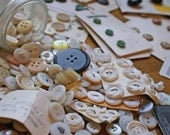 HUGE LOT of vintage and Newer Buttons - A Pound of Buttons
