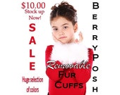ORIGINAL REMOVABLE FUR CUFFS CUSTOM COLOR by BeRRyPoSh One size fits all