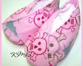 Mod Pink Punk Kimono Booties 0-3 months Newborn
