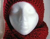 Deep Red Knitted Hat and Scarf Set
