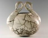 porcelain, slip resist raku \/ naked raku, mims swans - 1