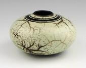 porcelain, slip resist raku \/ naked raku - 9