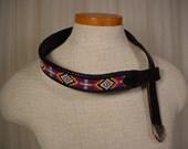 Vintage Western Rockabilly Beaded leather Belt