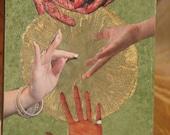 Hands -- Original Collage ACEO