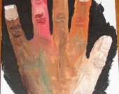 Peace and Tolerance -- Print ACEO of original acrylic painting