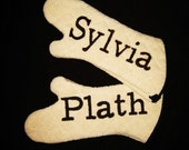 Sylvia Plath Oven Mitts 1 set. 17in. long. Made of Quilted Terry Cloth - SHIPS DEC. 2nd