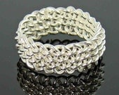 Sterling Silver Ring, Woven, Sterling Silver Jewelry