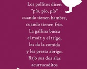 Spanish Nursery Rhyme Poster