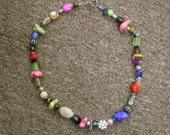Crazy Daisy beaded necklace