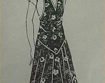 Vintage Reproduction Bib Apron Full Size Pattern 1920s Flapper Style  APR 8001