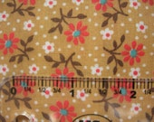 quilt cotton fabric red daisy white forget me not flower print 45 wide
