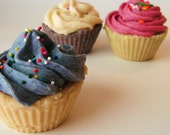 3 Cupcake Soaps of your choice - Hot process from scratch