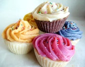 1 Dozen Cupcake Soaps - Hot Process Soap From Scratch LAST DAY TO ORDER THIS LISTING FOR XMAS 12\/12