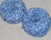 RECLAIMED YARN, Cotton, Blue and white, 360 yards recycled