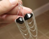Alice - Sterling Silver and Genuine Onyx Earrings, Twilight Inspired