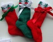 Pack of  Three Small Christmas Stockings