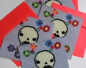 Skull Flat Note Cards (Set of 4)