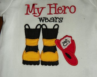 Fireman HAT & BOOTS Fire Hero - INSTANT Download Machine Embroidery Design by Carrie