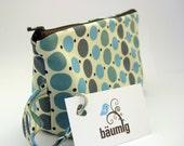 make-up bag ...retro dots... with carabiner