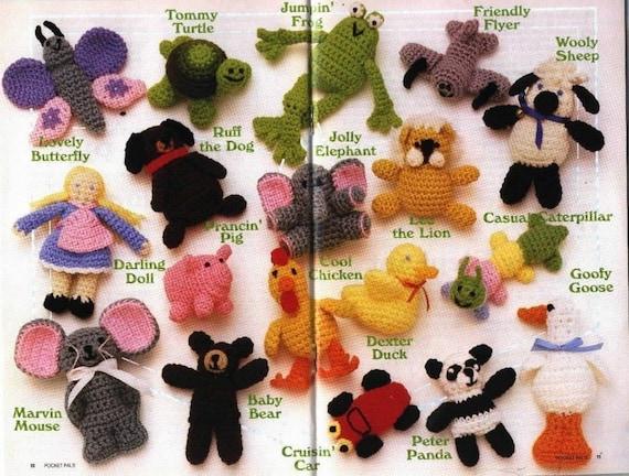 Items similar to Pocket Animals - Amigurumi crochet ...