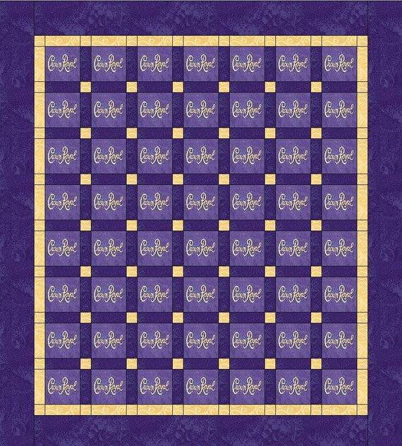 Items Similar To Crown Royal Quilt Blanket Made With