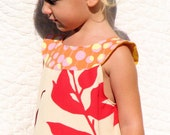 Girls Just Wanna Have Fun dress in orange sherbert