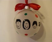 Personalize your own stick family ornaments