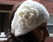 Hand-knitted headband