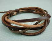 Spicy VI Twist Leather Bracelet And Waxed Cotton Cord